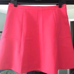 J. Crew Flared Skirt - Hot Pink - Size 4 - EUC